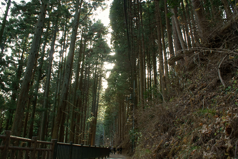 御嶽山参道に向かう風景