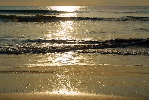 岩井海岸の海