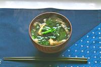 蕪の葉の味噌汁